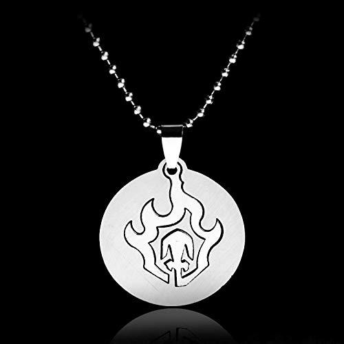 YUNMENG Ainme Jewelry Collar de Naruto Kakashi Shippuuden Eyes Konoha Ninja Collar con Colgante