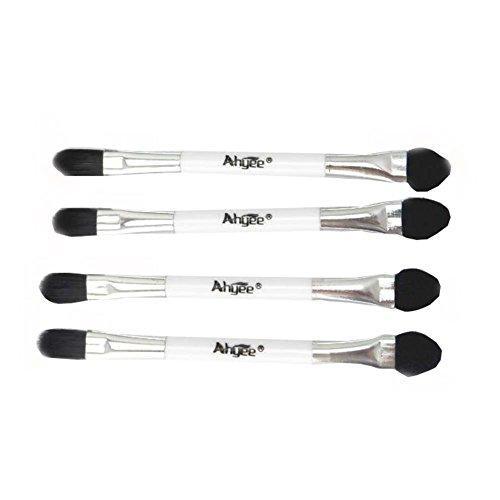 Mini brosse à paupières double face jetable noire 5pcs / ensemble