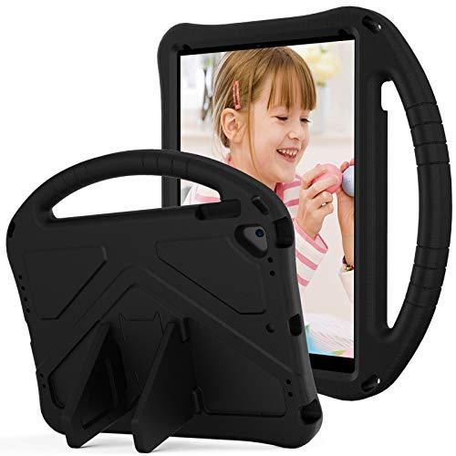 SZCINSEN Funda para iPad Air 2, iPad Pro 9.7, para niños Eva a prueba de golpes, ligera, con asa grande, resistente funda protectora para iPad 6 (color negro)