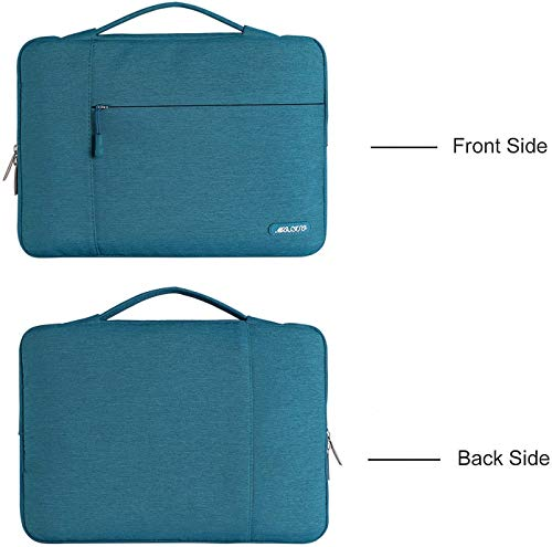MOSISO Laptop Aktentasche Kompatibel mit MacBook Pro 16 Zoll, 15 15,4 15,6 Zoll Dell Lenovo HP Asus Acer Samsung Sony Chromebook,Polyester Multifunktion Sleeve Hülle, Deep Teal