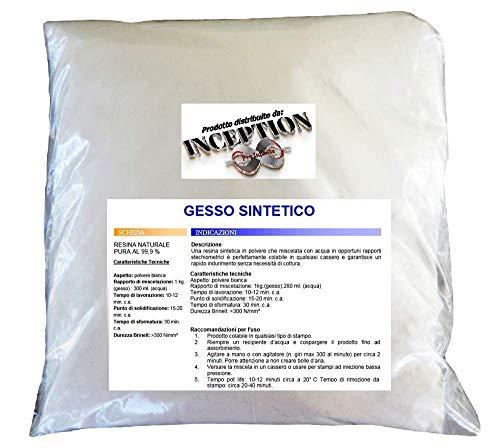 Inception Pro Infinite 2kg del miglior Gesso in Commercio - Sintetico - atossico - colabile - extraduro - Alta Definizione e Resistenza - Effetto Porcellana