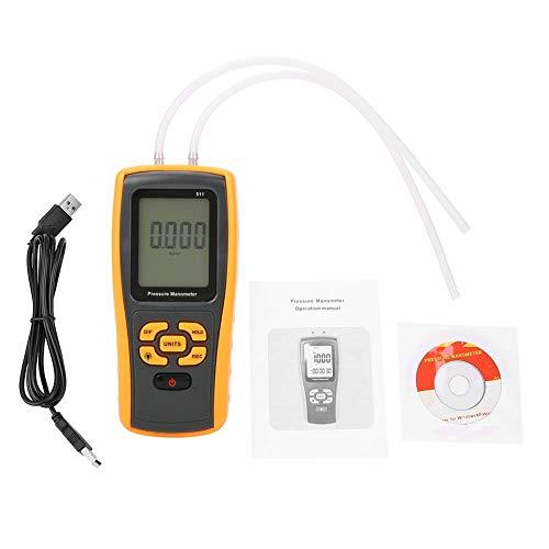 Chenbz Manómetro Tester, GM511 Digital ± 10KPA USB Medidor de presión diferencial Medidor de medidor de medidor de manómetro