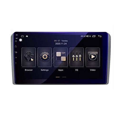 ZWDSDD Android 9.0 Doble DIN Head Unit Coche Estéreo para Audi A3 8P 2003-2013 GPS Navegación Pantalla Táctil Multimedia Player Radio Receptor Carplay DSP RDS(Size:Ocho núcleos,Color:WiFi:4+64G)
