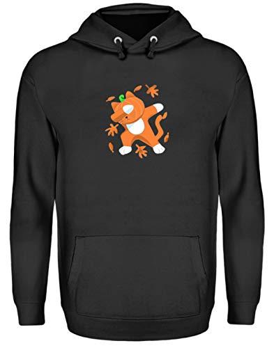 Generieke Dabbing kat met pompoenkop Cat Pumpkin Halloween - eenvoudig en grappig ontwerp - Unisex capuchontrui hoodie