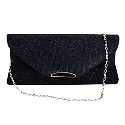 ZLMBAGUS Ladies Frosted Satin Evening Clutch Purse Bag Party Prom Wedding Envelope Crossbody Handbags