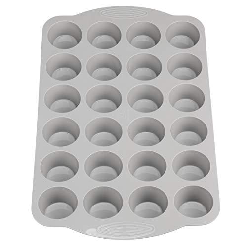Backefix Komfort Muffinblech 24er aus Silikon mit Griffen - große Muffinbackform für gut portionierte Mini-Muffins