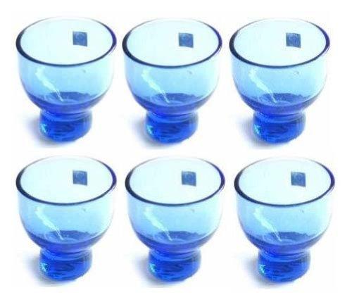 JapanBargain , Shot Glasses Glass Cup for Japanese Cold Sake Cups Set of 6, Blue