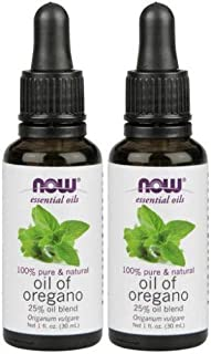 Now Foods Oil of Oregano 25%, 1 Fl Oz (Pack of 2)
