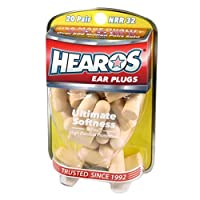 Hearos Ear Plugs Ultimate Softness Series ヒーローズ イヤープラグ アルティメット ソフトネス シリーズ 柔らかい耳栓 20ペア [並行輸入品]