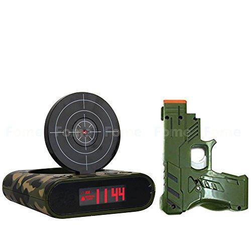 Wecker mit Laserpistole und Zielscheibe by ChannelGoods