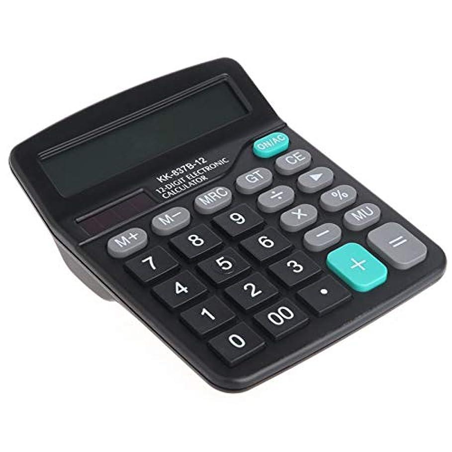 ビジネスオフィス電卓デュアルパワーソーラー&バッテリー駆動大型ボタンデスクトップデスクディジット科学電卓