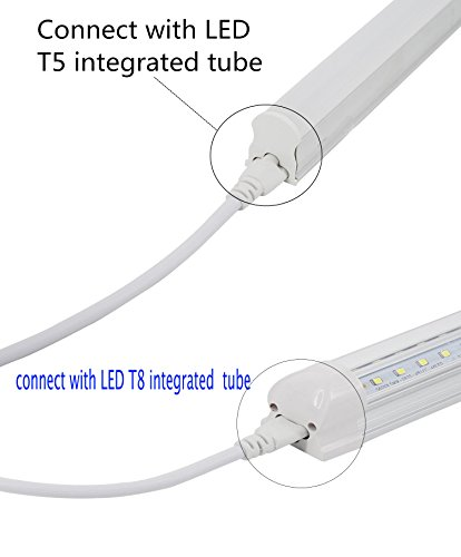 SinLoon T5 T8 LED Lamp Connecting Wire Ceiling Lights Daylight LED Integrated Tube Cable linkable Cords for LED Tube Lamp Holder Socket Fittings with Cables(3.3FT/1M,2-Pack)