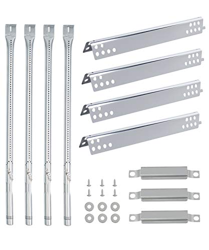 SHINESTAR Repair Kit for Charbroil Grill Replacement Parts 463276617 463335517 Char Broil Performance 4 Burner 475, Heat Tents Plate G470-0004-W1+ Burner Tubes G470-5200-W1+ Crossover Burner