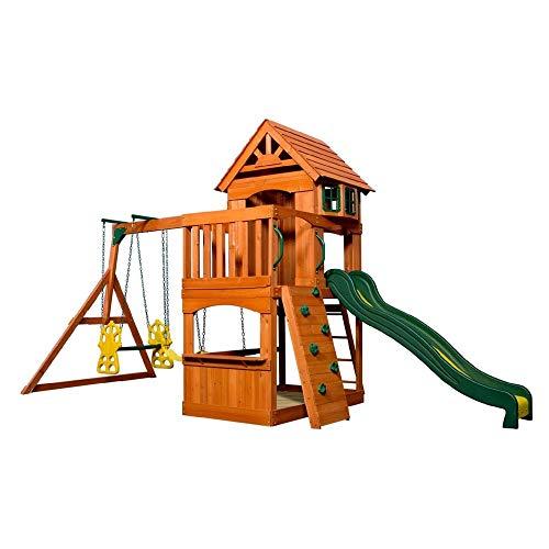 Beauty.Scouts Holzspielhaus Tasso inkl. Leiter + Rutsche + Sandkasten + Schaukel 236,2x551,2x284,5cm Kinderspielhaus Holzhaus Stelzenhaus groß Spielplatz