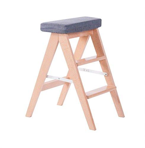 ZhHOME Sofa Die Küche Klapphocker Fester Haushalt Stufenleiter Hoher Hocker Der Stuhl 60 cm hoch Verschiedene Ausführungen erhältlich (Color : Gray)