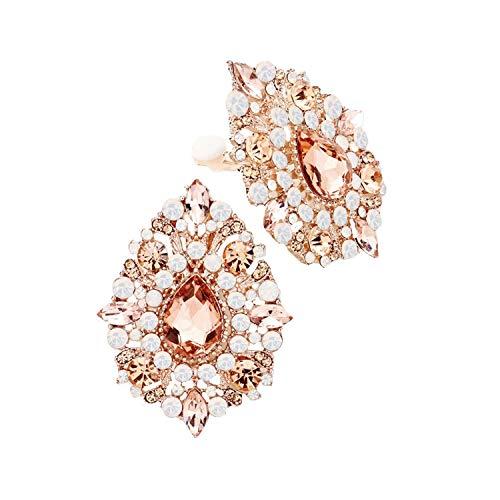 Glamour Parure de mari/ée avec cha/îne en argent et boucles doreilles longues avec cristaux transparents et gouttes rouges Schmuckanthony Hoernel