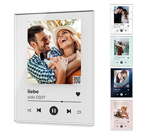 Song Cover Glas Bild mit Foto - Acrylglas - Titel und Musikalbum | Spotify mit Musiktitel, Namen oder anderer Widmung | perfekt als Geschenkidee für Partner Freund Familie | Wanddeko (Song Cover Bild)