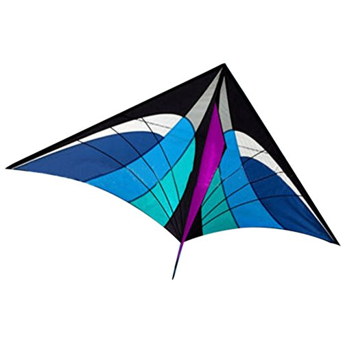 m·kvfa New Stunt Power Kite Outdoor Sport Fun Toys Novelty Dual Line Delta Kite Easy to Assemble Fly Great for Beach Use The Best Kite for Girls Boys Kids Adults Beginners (Bule)