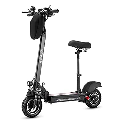 Blue Pigeon E5 Off Road Electric Scooter with Seat and Bag for Adult Speed 30mph Battery 13Ah Motor 600W
