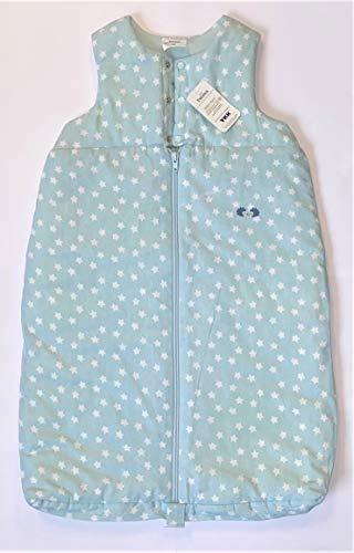 Twins Unisex Baby Schlafsack ärmellos mit Sternen, Blau, 104 (Herstellergröße: 110)