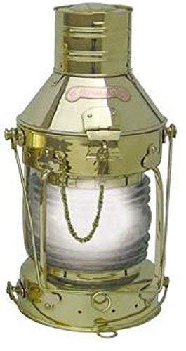 linoows Grand Lampe Ancre, Électrique Lampe, XXL Schiffslaterne Laiton Poli 48 CM
