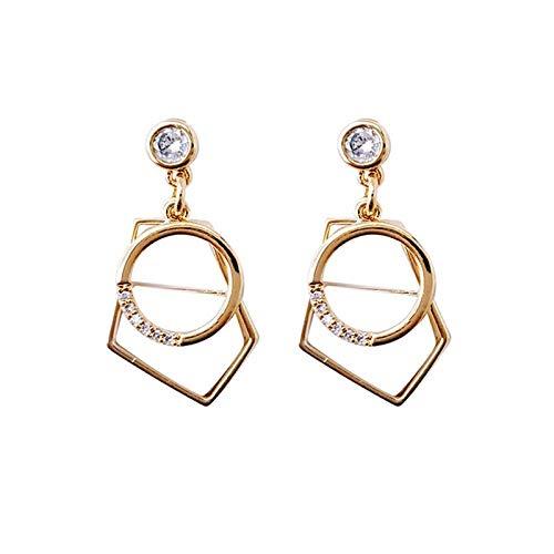 Temperament persoonlijkheid diamanten schelp hanger oorbellen vrouwelijke overdreven mode geometrische wilde oorbellen vrouw