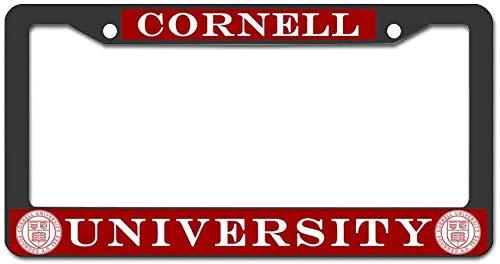 Fairyshop Cornell University License Plate Frame Metal Custom Car Tag Frame Screws for US Vehicles