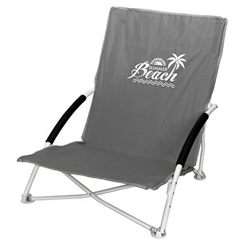 Strandstuhl Campingstuhl Summer-Beach inkl. Transporttasche Beachchair Klappstuhl Gartenstuhl Campingmöbel Gartenmöbel, Farbe:Stone
