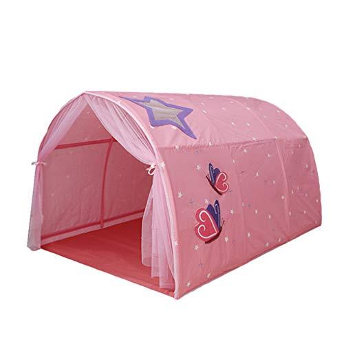MYJZY Kinderzelt-Bett, Pop Up Bett Zelte Für Junge Mädchen, Kinderspielzelt Magischen Spielhaus Geburtstags-Geschenke, Bewegliches Spielzelt, Einfach Zu Speichern, Installieren,Rosa