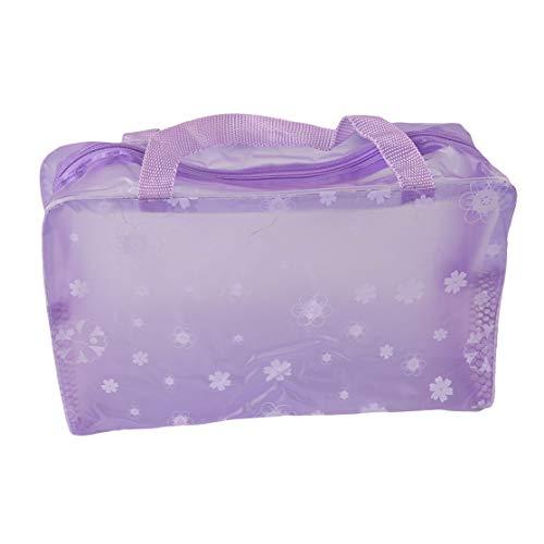 PXSTYLE Trousse de toilette imperméable transparente imprimée cassée pour femmes,violet