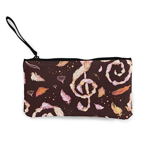 Moneda de lona, bolso de jazz otoñal con cremallera, bolsa de cosméticos de viaje multifunción, bolsa de maquillaje para teléfono móvil, paquete de lápices con asa