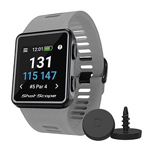 Shot Scope V3 GPS Watch - F/M/B + Hazard Distances - Automatic Shot...