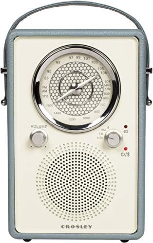 Crosley CR3034A-TN Mockingbird Vintage Portable Am/FM/Bluetooth Radio, Tourmaline