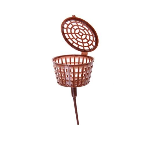 Nouveaux 10 pcs Marron Big Taille Engrais Coque plastique bonsaï outils Wholesle