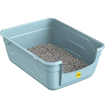 CatCentre? Blue Large Cat Kitten Litter Tray Box High Sided UK Deep Toilet Loo