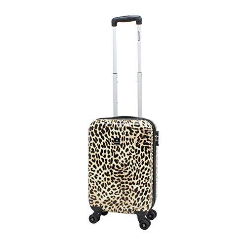 Reiskoffer harde schaal handbagage koffer Saxoline S 55cm Leopard