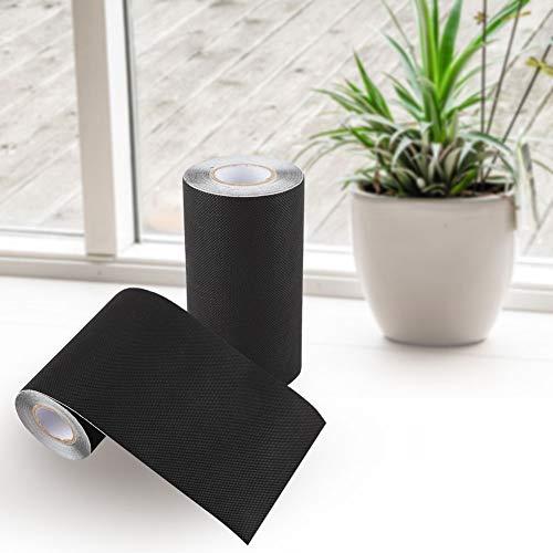 Schwarzes 15 * 500 cm Naht-Rasenband Synthetisches Rasenband Synthetisches Grasband Künstliches Band zum Anschließen von Außengras