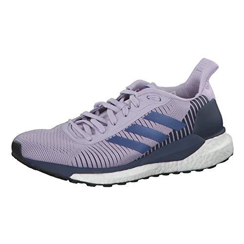 adidas Damen Solar Glide St 19 W Laufschuhe, Blau (Purple Tint/Boost Blue Violet MET./TECH Indigo), 41 1/3 EU