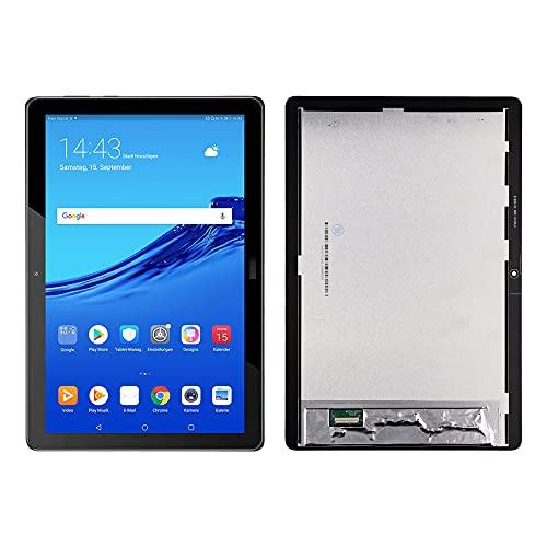 SwarKing Display LCD compatibile con Huawei MediaPad T5 LTE Tablet 10,1  Touch Screen Digitizer (nero senza cornice) Ricambi con attrezzi gratuiti