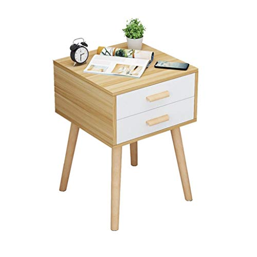 Mesa de centro pequeña Sala de estar Mesa de centro Mesa de centro creativa Mesita de noche sencilla Armario económico Pequeña mesa lateral Apariencia de muebles de madera Asamblea simple pequeñas mes