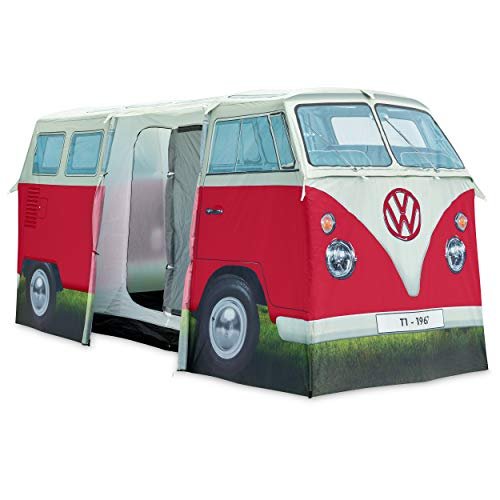 Board Masters VW Collection - Volkswagen T1 Bulli Bus Campingzelt (4 Pers.) (Rot & Weiß)
