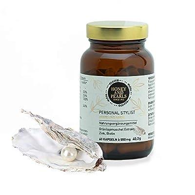 Honey and Pearls   Vitamine für Haare und Nägel - Biotin, Zink, Grünlippmuschel - 60 Kapseln - Personal Stylist
