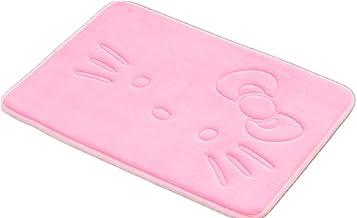 Sytian® Cute Cartoon Pink Cat Rug Super Soft Coral Fleece Mat Carpet Slow Rebound Memory Doormat Floor Mat Bath Mat Bathro...