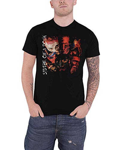 System of A Down T Shirt Painted Faces Band Logo Nue offiziell Herren