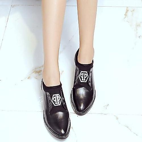 Zormey Chaussures Pour Femmes En Cuir Nappa De Vachette   Chunky   Confort   Nouveaut¨    Styles   Chaussures   Carr¨    Ferm¨  Orteil Noir Talons Us7.5   Eu38   Uk5.5   Cn38