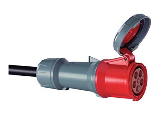 Mennekes 101300041prolongadores Power Top Plus, Steckdosen CEE, 400V, 50–60Hz, 125A, 4-polig, IP 67Grad Schutz, Rot