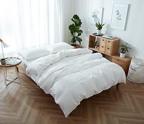 Bettwäsche-Set Mond SJTSC150 x 200, Weiß, Doppelbettgröße [ 100 % Baumwolle Fadenzahl 200] Queen weiß