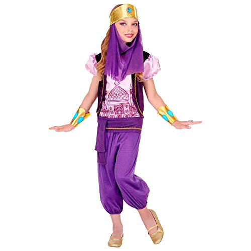 WIDMANN 75745 - Disfraz infantil de princesa árabe, niña (116 cm), color morado