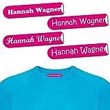 60 etiquetas termoadhesivas para ropa de 8x1 cm - etiquetas de nombre personalizables termoadhesivas. Etiquetas para planchar - para algodón - personalizadas para la escuela, guardería, deporte