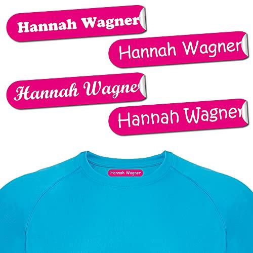 192 etiquetas termoadhesivas para ropa 8x1 cm - etiquetas de nombre personalizables termoadhesivas. Etiquetas para planchar - para algodón - personalizadas para la escuela, guardería, deporte